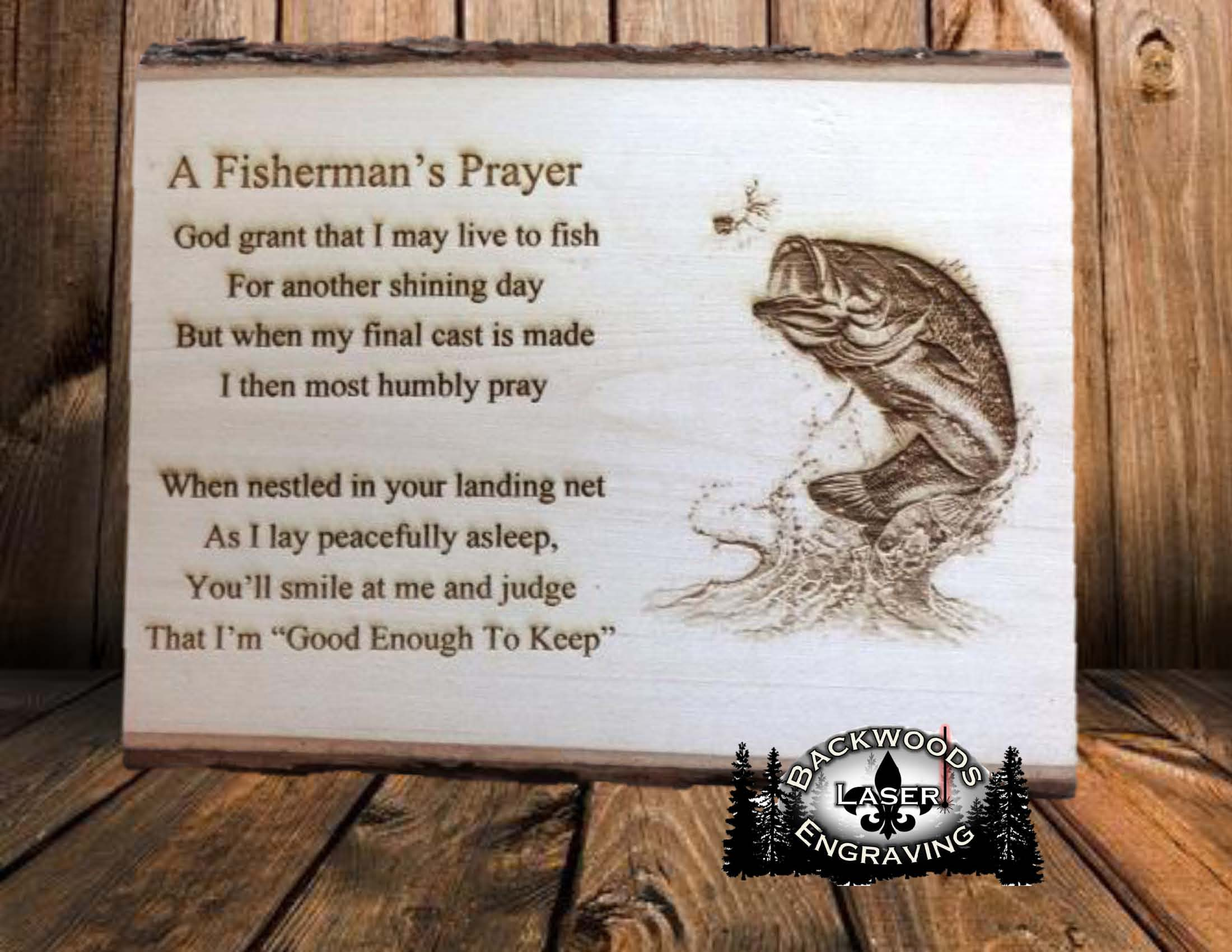 Fisherman S Prayer Backwoods Laser Engraving